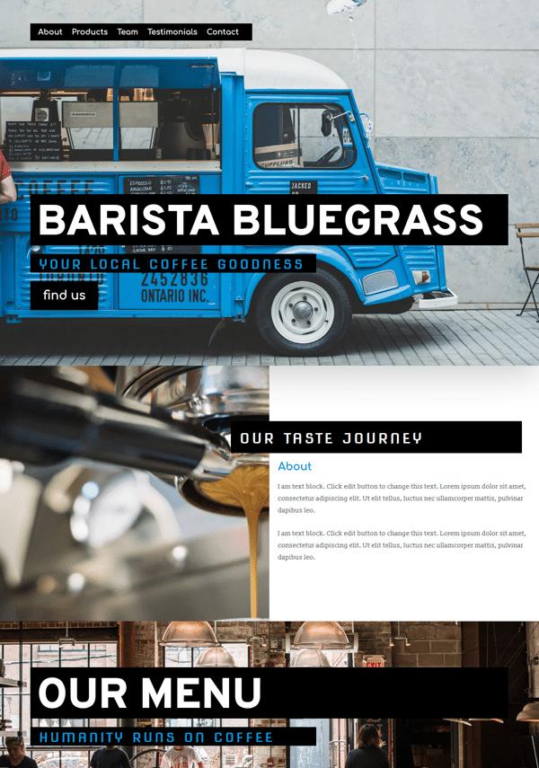 Barista Coffeebar Elementor Template