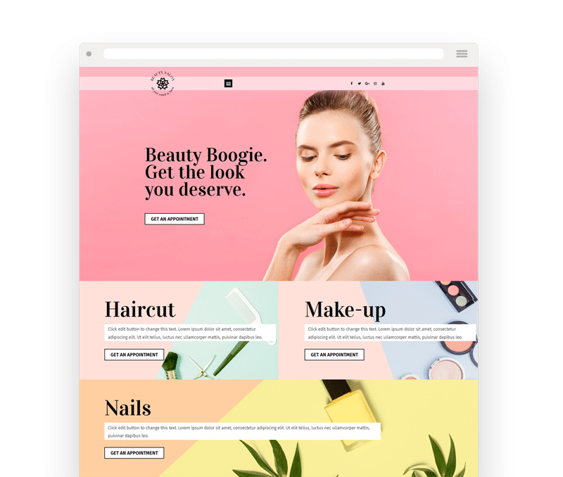 Beauty Elementor Template